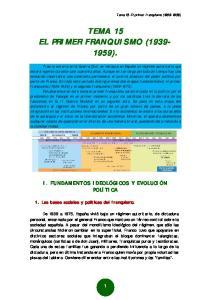 TEMA 15 EL PRIMER FRANQUISMO ( )