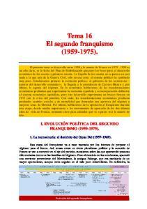 Tema 16 El segundo franquismo ( )