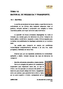 TEMA 16 MATERIAL DE RECOGIDA Y TRANSPORTE