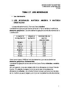 TEMA 17. LOS MINERALES