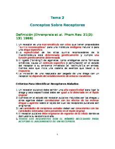 Tema 2. Conceptos Sobre Receptores