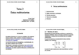 Tema 2 Datos multivariantes