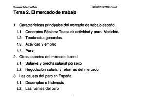 Tema 2. El mercado de trabajo
