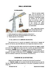 TEMA 2 ESTRUCTURAS FUNCIONES DE LAS ESTRUCTURAS