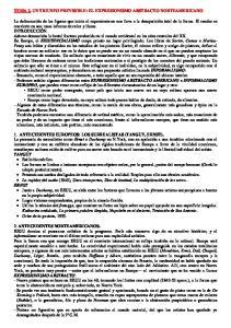TEMA 2. UN TRIUNFO PREVISIBLE: EL EXPRESIONISMO ABSTRACTO NORTEAMERICANO