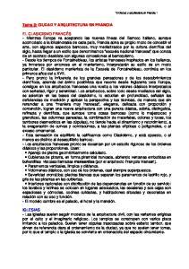 Tema 3: CIUDAD Y ARQUITECTURA EN FRANCIA