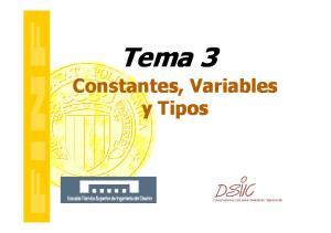 Tema 3 Constantes, Variables y Tipos