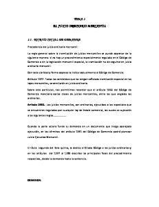 TEMA 3 EL JUICIO ORDINARIO MERCANTIL