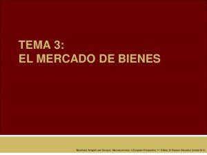 TEMA 3: EL MERCADO DE BIENES