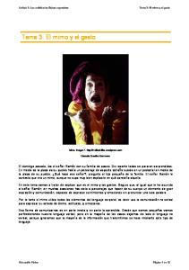 Tema 3. El mimo y el gesto