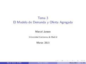 Tema 3 El Modelo de Demanda y Oferta Agregada