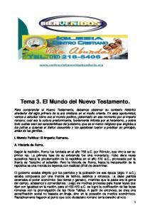 Tema 3. El Mundo del Nuevo Testamento