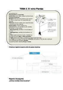 TEMA 3. El reino Plantas