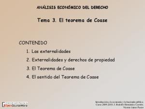 Tema 3. El teorema de Coase