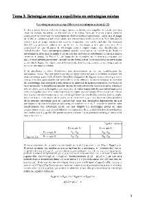 Tema 3. Estrategias mixtas y equilibrio en estrategias mixtas