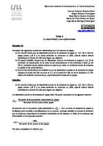 Tema 3 La elasticidad y sus aplicaciones