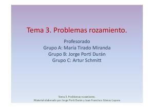 Tema 3. Problemas rozamiento