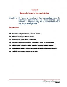 Tema 3. Segunda ley de la termodinámica
