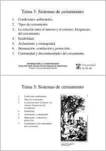 Tema 3: Sistemas de cerramiento