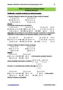 TEMA 3. Sistemas de ecuaciones lineales Problemas Resueltos
