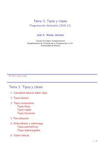 Tema 3: Tipos y clases