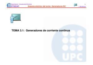 TEMA 3.1: Generadores de corriente continua