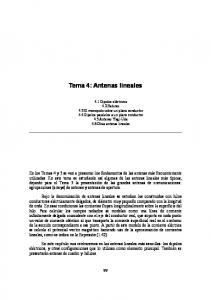 Tema 4: Antenas lineales