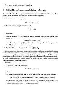 Tema 4: Aplicaciones lineales