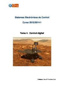 Tema 4. Control digital