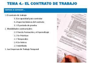 TEMA 4.- EL CONTRATO DE TRABAJO