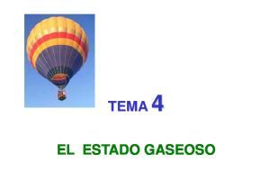 TEMA 4 EL ESTADO GASEOSO