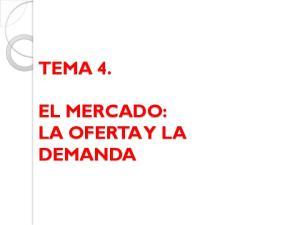 TEMA 4. EL MERCADO: LA OFERTA Y LA DEMANDA