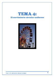 TEMA 4: El movimiento circular uniforme