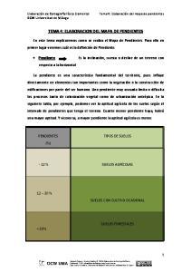 TEMA 4: ELABORACION DEL MAPA DE PENDIENTES