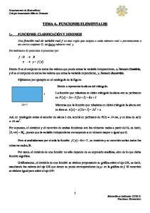 TEMA 4.- FUNCIONES ELEMENTALES