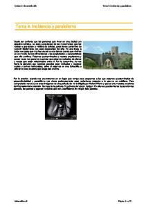 Tema 4. Incidencia y paralelismo