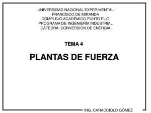 TEMA 4 PLANTAS DE FUERZA