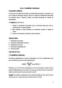 Tema 4. Probabilidad Condicionada