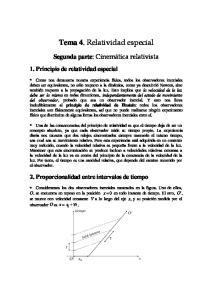 Tema 4. Relatividad especial
