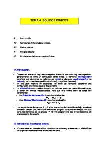 TEMA 4: SOLIDOS IONICOS