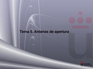 Tema 5. Antenas de apertura