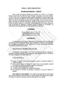 TEMA 5. ARTE BIZANTINO. Introducción histórico - cultural. Cronología. Arquitectura
