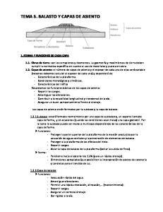 TEMA 5. BALASTO Y CAPAS DE ASIENTO