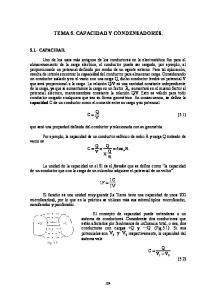TEMA 5. CAPACIDAD Y CONDENSADORES