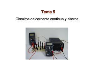 Tema 5. Circuitos de corriente continua y alterna