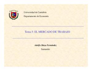 Tema 5: EL MERCADO DE TRABAJO