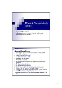 TEMA 5. El mercado de trabajo