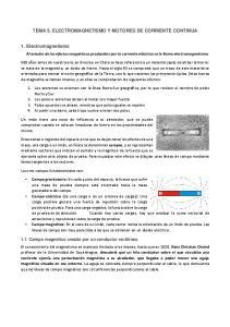 TEMA 5. ELECTROMAGNETISMO Y MOTORES DE CORRIENTE CONTINUA