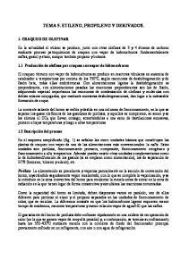 TEMA 5. ETILENO, PROPILENO Y DERIVADOS