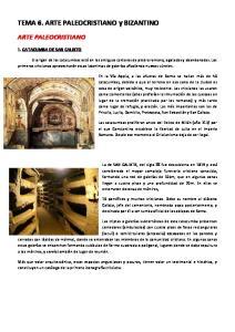 TEMA 6. ARTE PALEOCRISTIANO y BIZANTINO